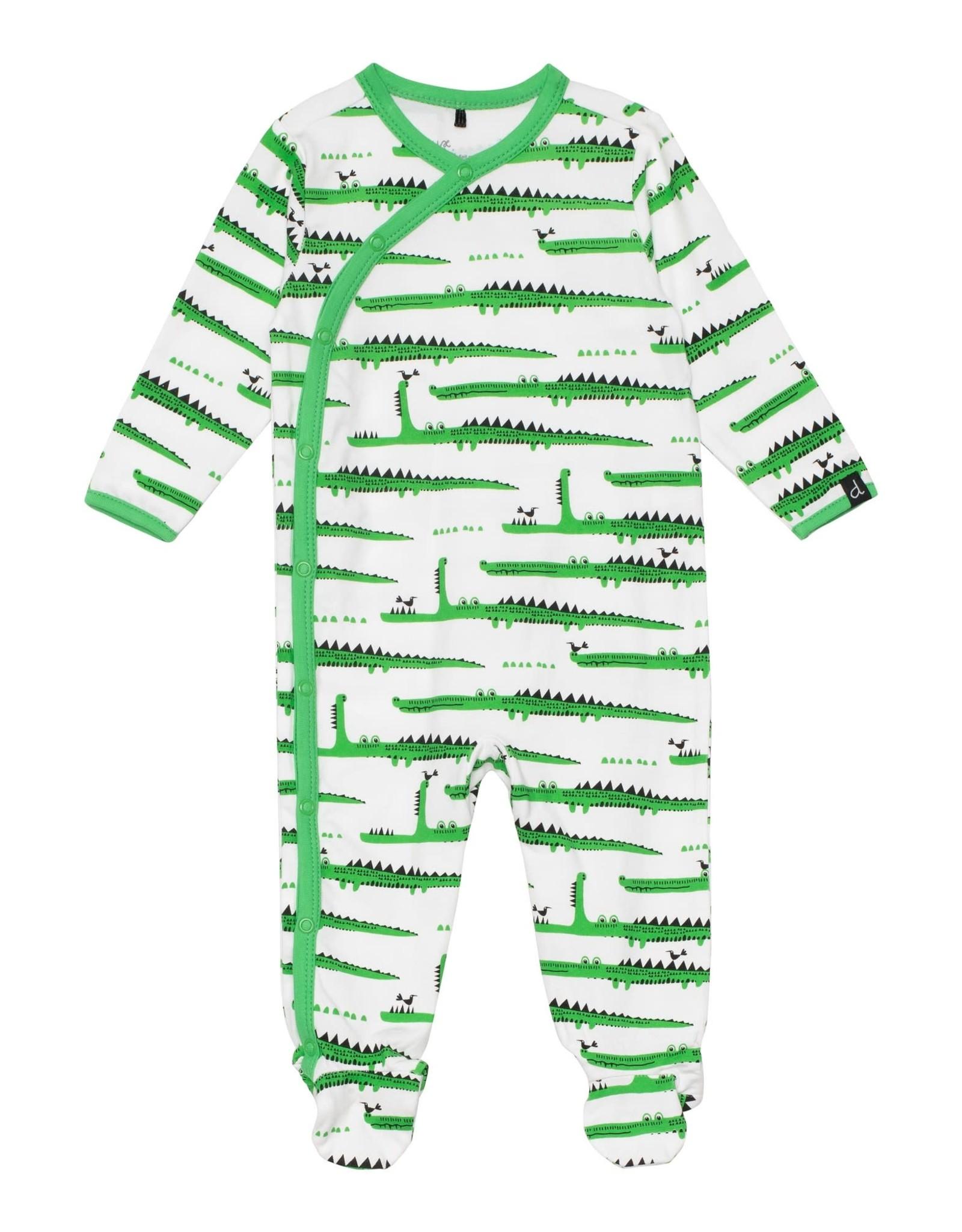 Deux par Deux Footie Pajamas - Crocodile Print