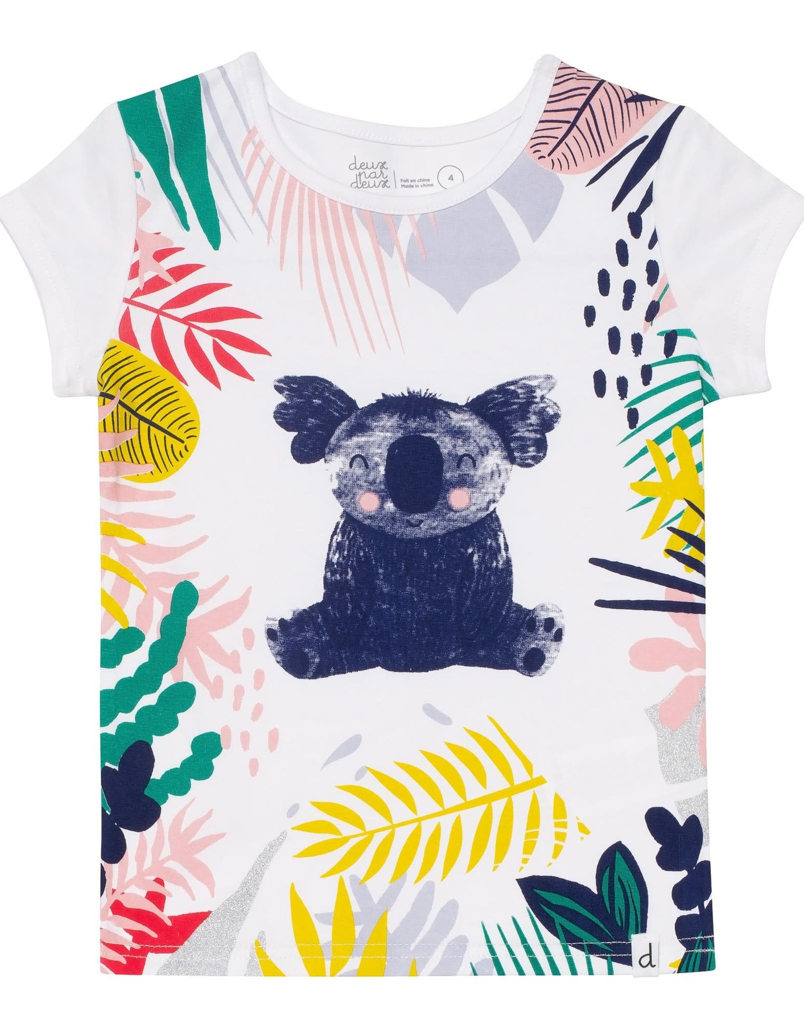 Deux par Deux Organic Cotton T-Shirt - Koala Print