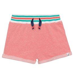 Deux par Deux Fleece Shorts - Light Coral