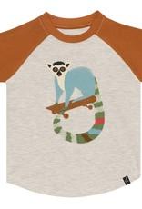 Deux par Deux Raglan T-Shirt - Lemur Print