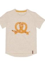 Deux par Deux Jersey T-Shirt - Pretzel Dog Print