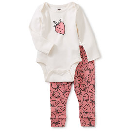 Tea Bodysuit Baby Outfit, Strawberries