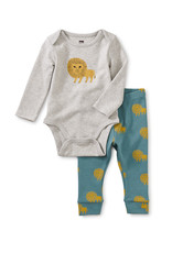 Tea Bodysuit Baby Outfit, Lions