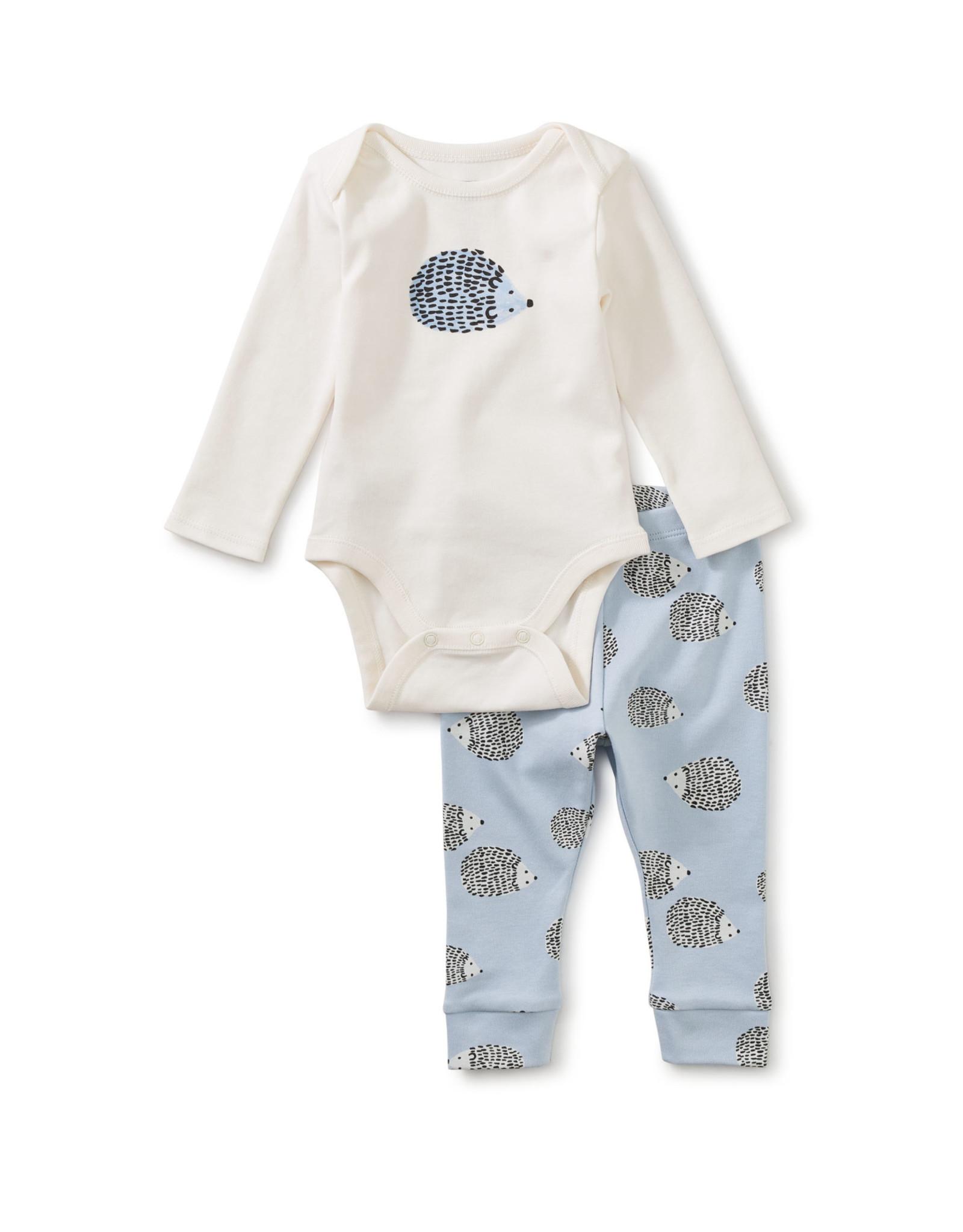 Tea Bodysuit Baby Outfit, Hedgehog