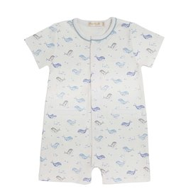 Baby Club Chic Sweet Whales Blue Romper