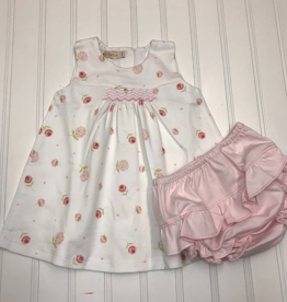 Baby Club Chic Roses Dress with Ruffled Diaper Cover