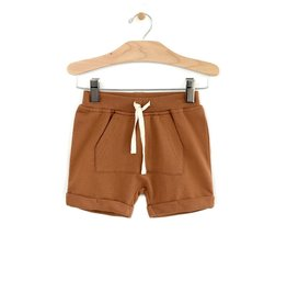 City Mouse Kangaroo Pocket Shorts, Toffee