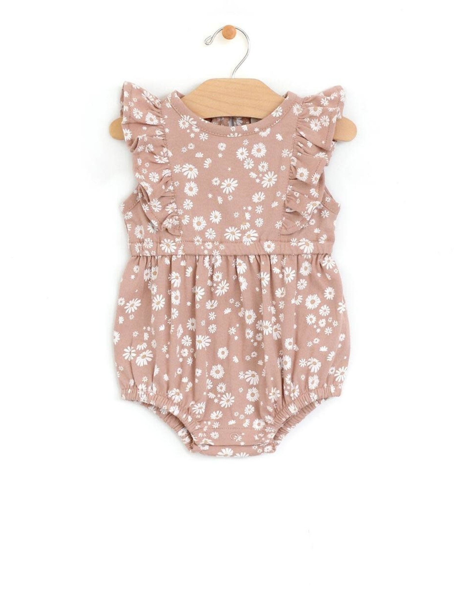 City Mouse Flutter Bubble Romper, Daisies