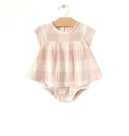 City Mouse Woven Check Skirted Bodysuit