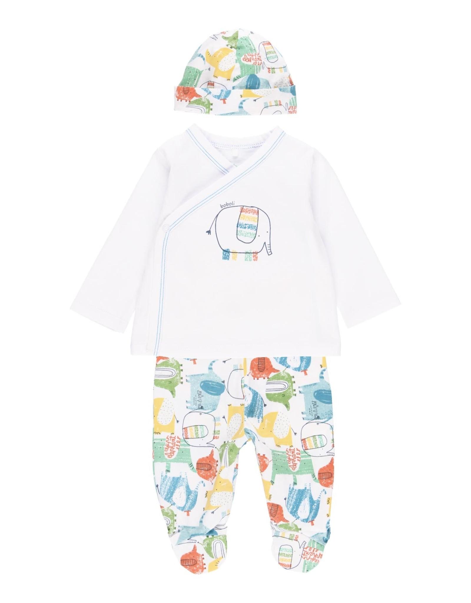 Boboli Gift Set, Elephant Shirt, Pants and Hat