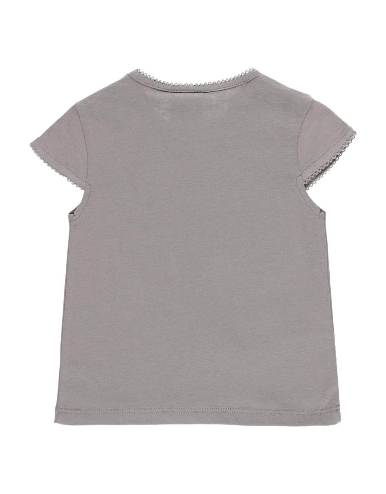 Boboli Flamingo Tee Shirt, Gray