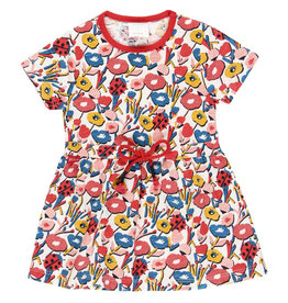 Boboli Knit Dress, Flame Floral