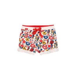 Boboli Knit Shorts, Flame Floral