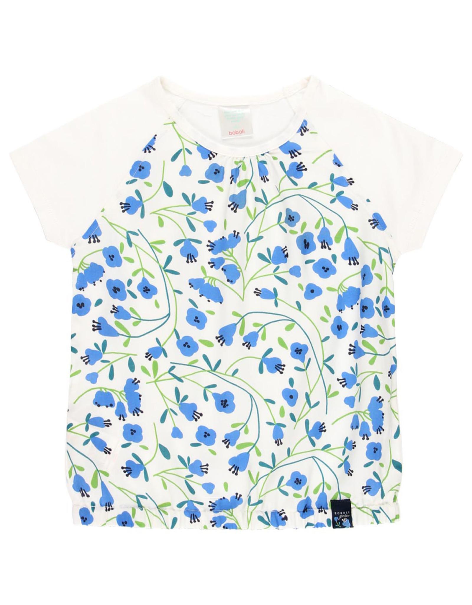 Boboli Blue Floral Tee Shirt