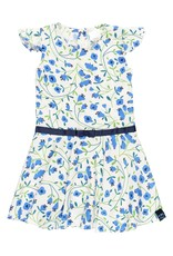 Boboli Blue Floral Dress