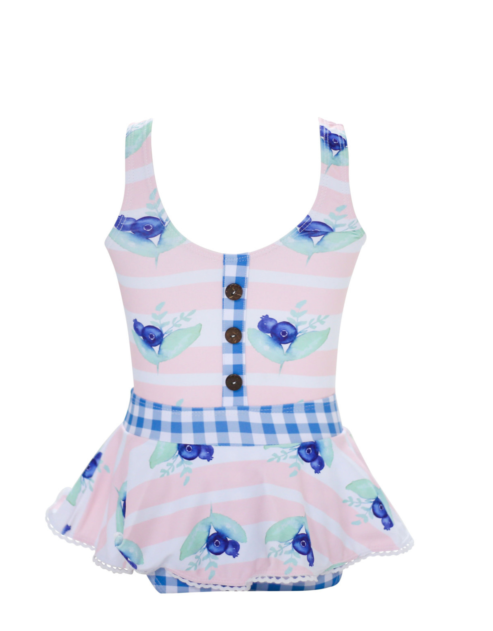 Blueberry Bay Blueberry Bay Blue Pearl Cottage 1 Piece Swimsuit