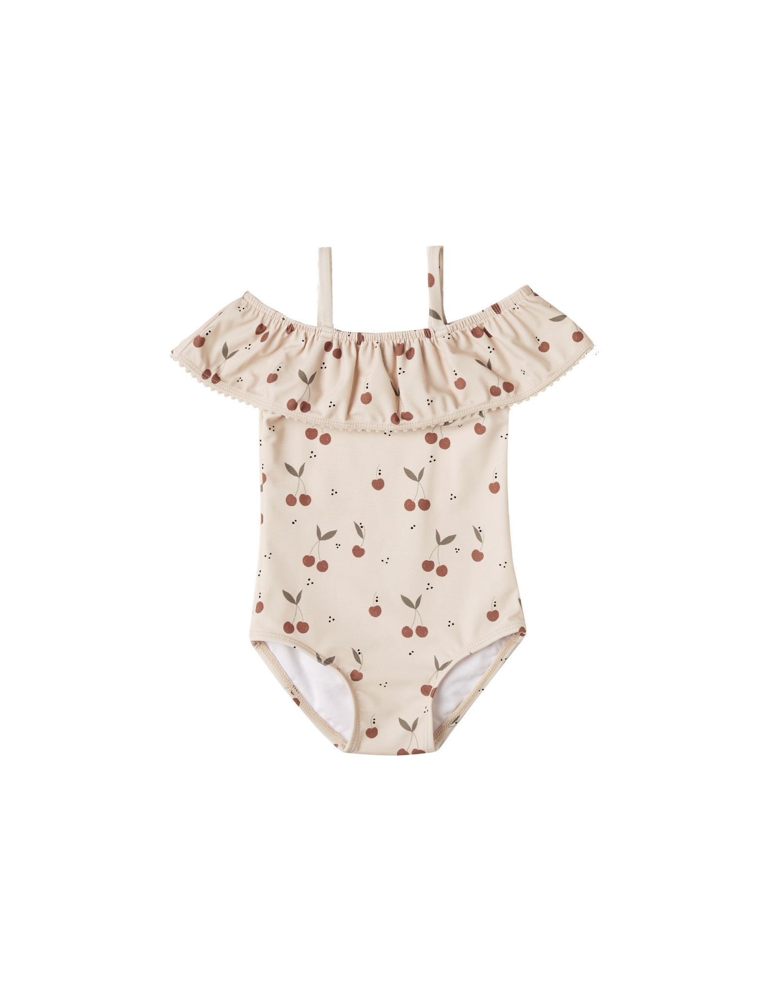 Rylee + Cru Off the Shoulder One Piece Swimsuit, Cherries