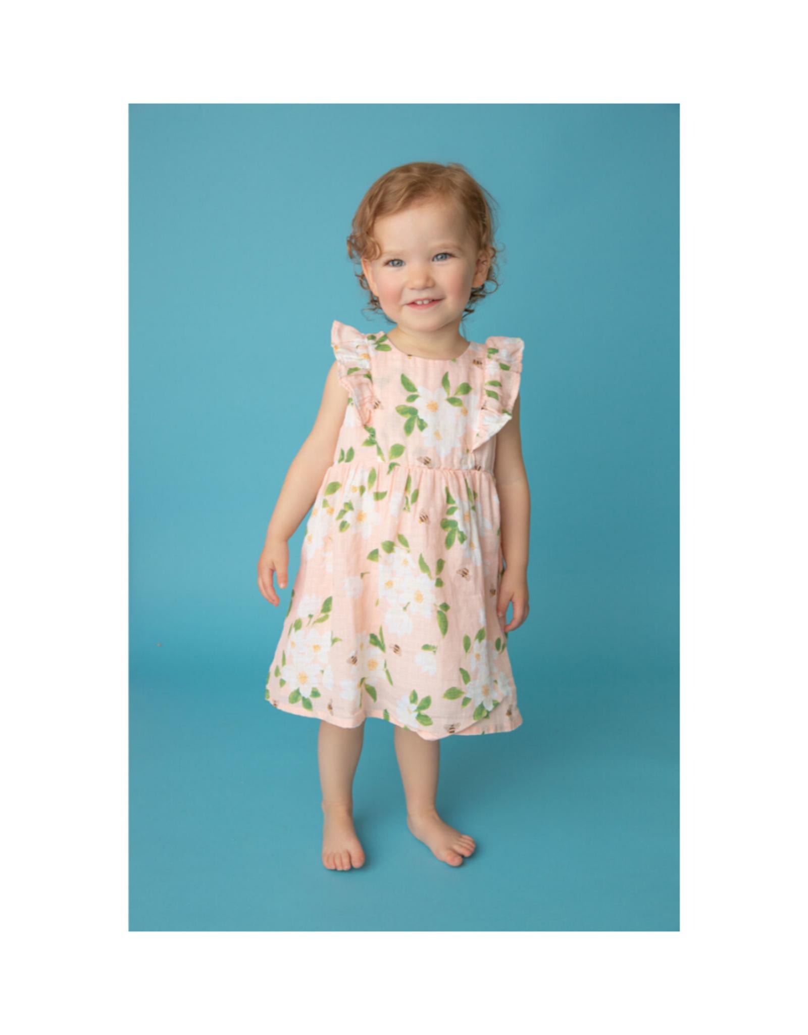 Angel Dear Magnolias Ruffle Dress