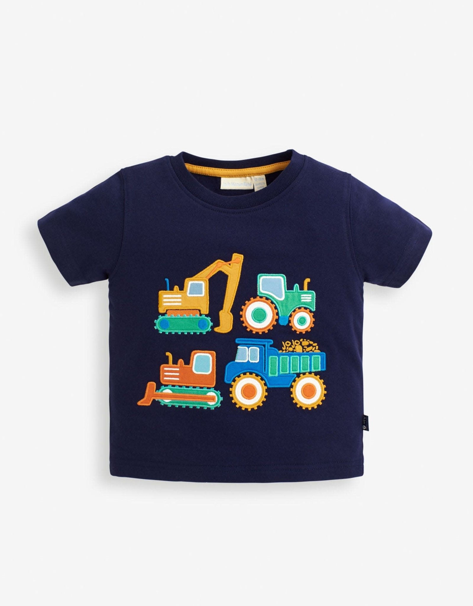 Jojo Construction Truck Applique Tee Shirt, Navy