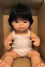 "Miniland Baby Doll Asian 15"" Boy"