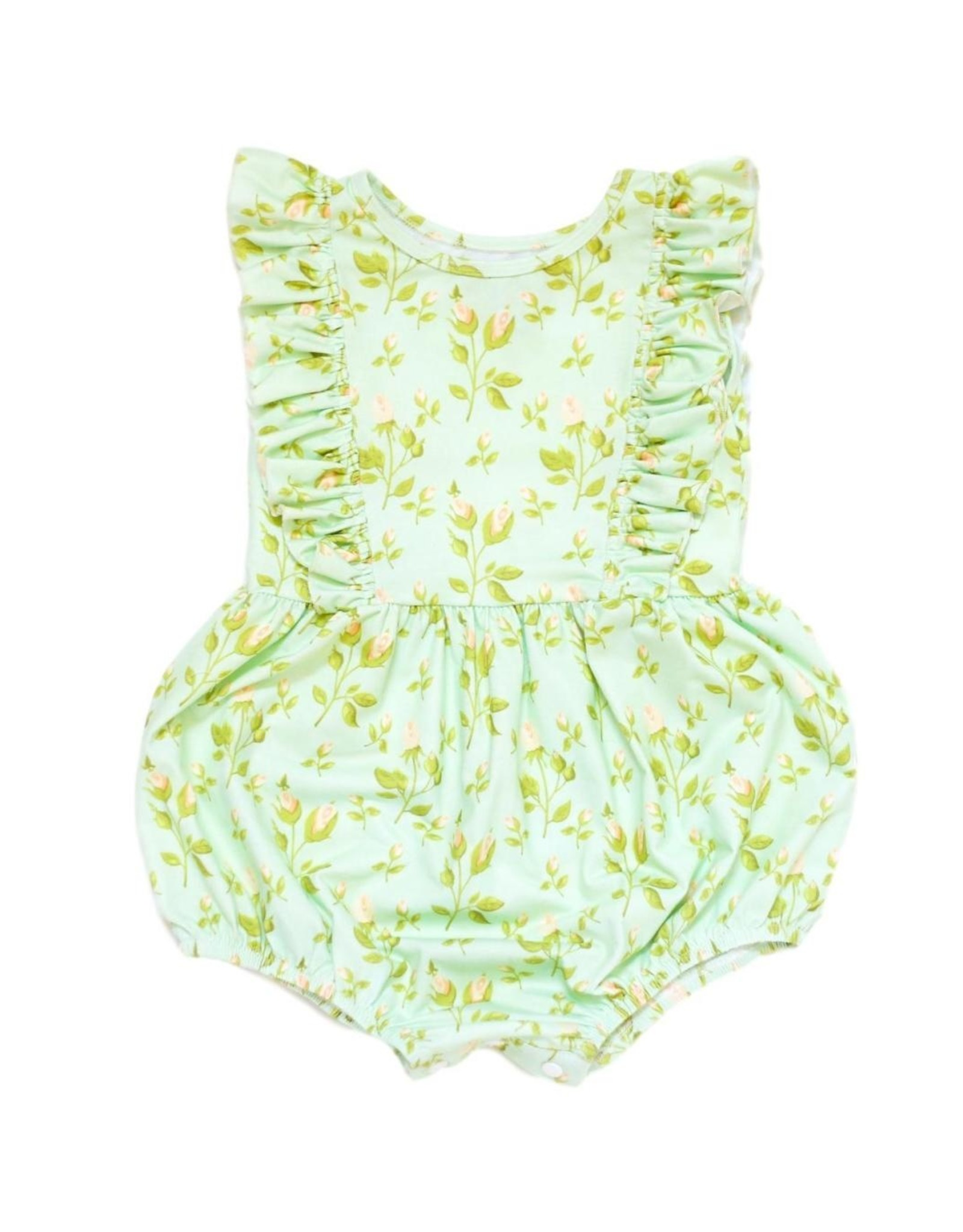 Be Girl Playsuit Bubble Romper - Mint Buds