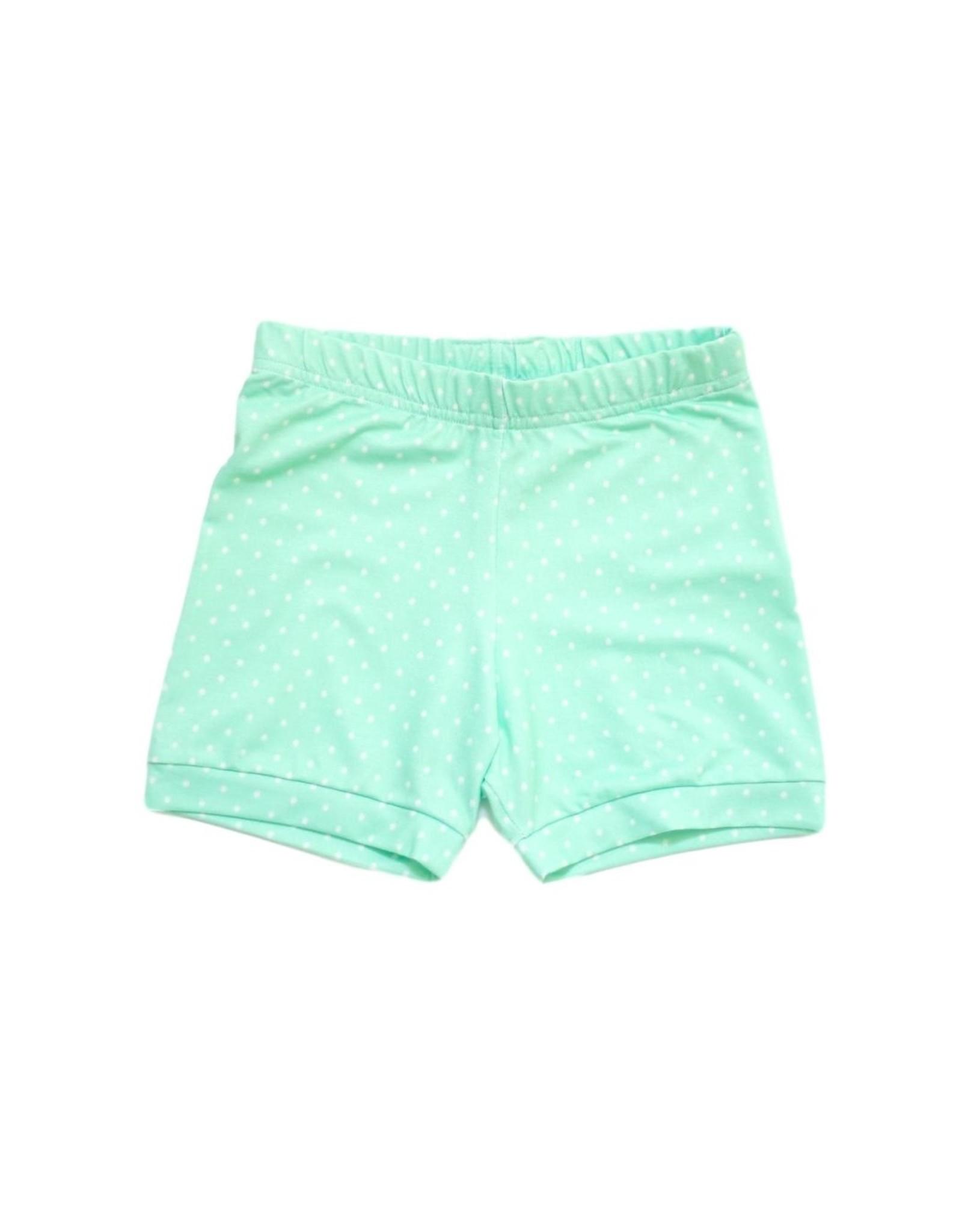 Be Girl Cartwheel Shorties - Mint Dot