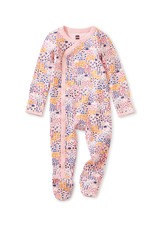 Tea Footed Baby Romper, Rainbow Forest