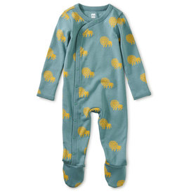 Tea Footed Baby Romper, Lions