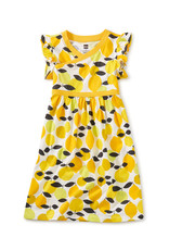 Tea Wrap Neck Dress, Algarve Citrus