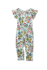 Tea Scoop Back Ruffle Jumpsuit, Intricate Floral
