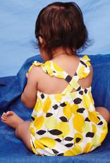 Tea Cross-Back Baby Romper, Algarve Citrus