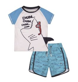 Andy & Evan Andy & Evan Shark Rashguard Set