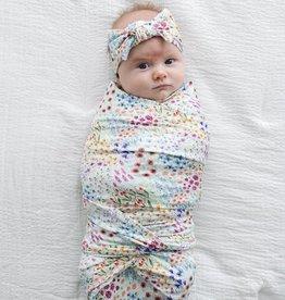 Little Sleepies Flower Fields Swaddle & Headband Gift Set