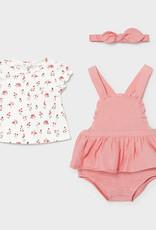 Mayoral Dress, Bodysuit and Headband Set, Pink Floral