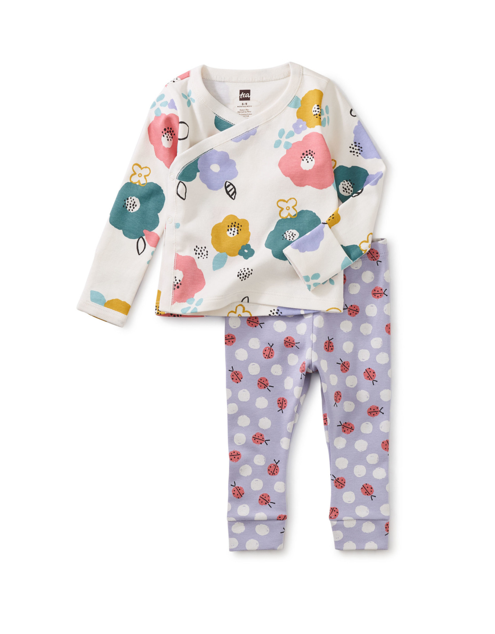 Tea Wrap Top Baby Outfit, Floral