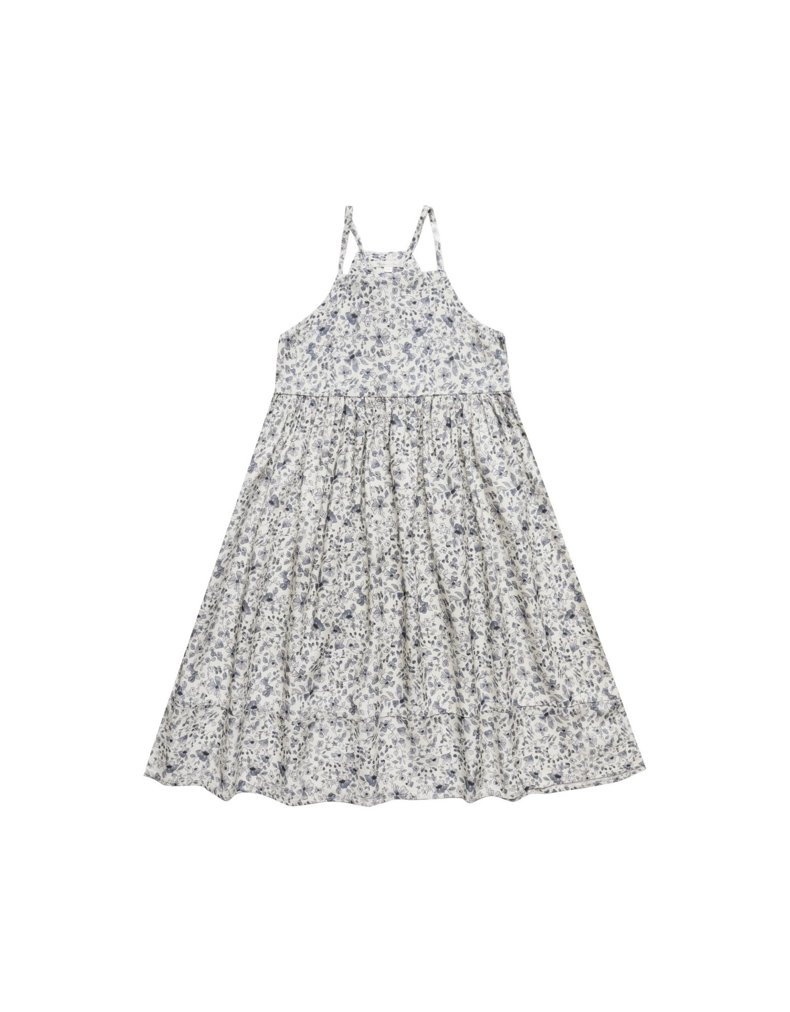 Rylee + Cru Blue Floral Ava Dress