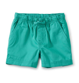Tea Twill Sport Shorts, Light Laguna