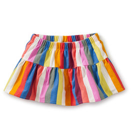 Tea Ruffled Baby Bloomers, Vibrant Stripe