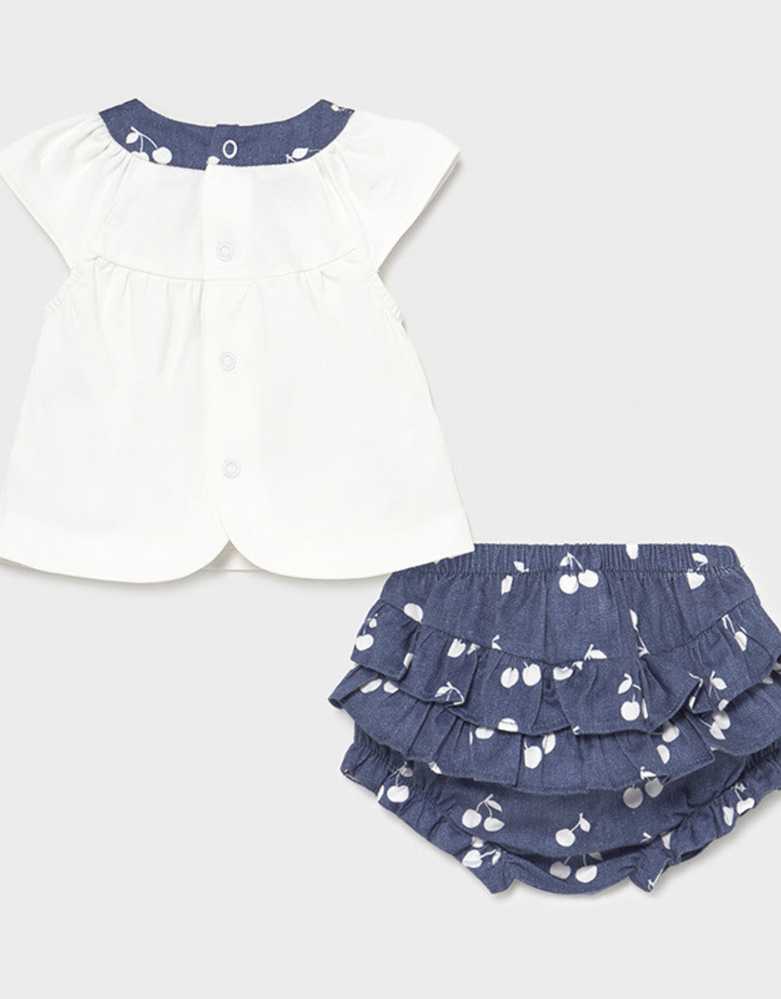 Mayoral Shirt and Bloomers Set, Cherries