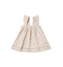 Quincy Mae Woven Ruffle Tube Dress, Natural