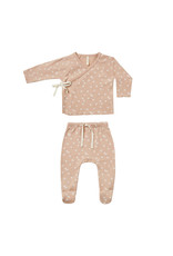 Quincy Mae Quincy Mae Kimono Top + Footed Pant Set, Blossom