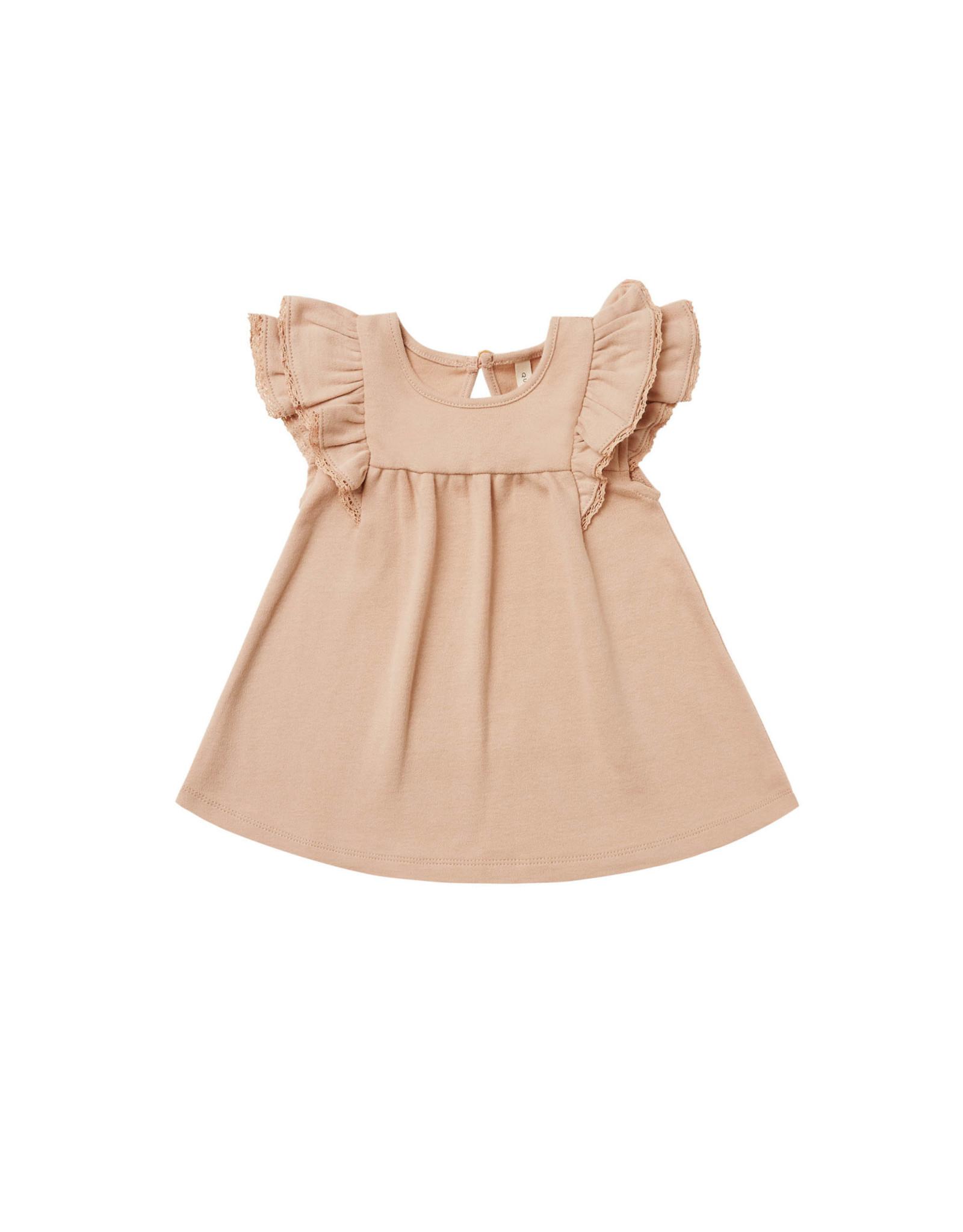 Quincy Mae Flutter Dress, Petal
