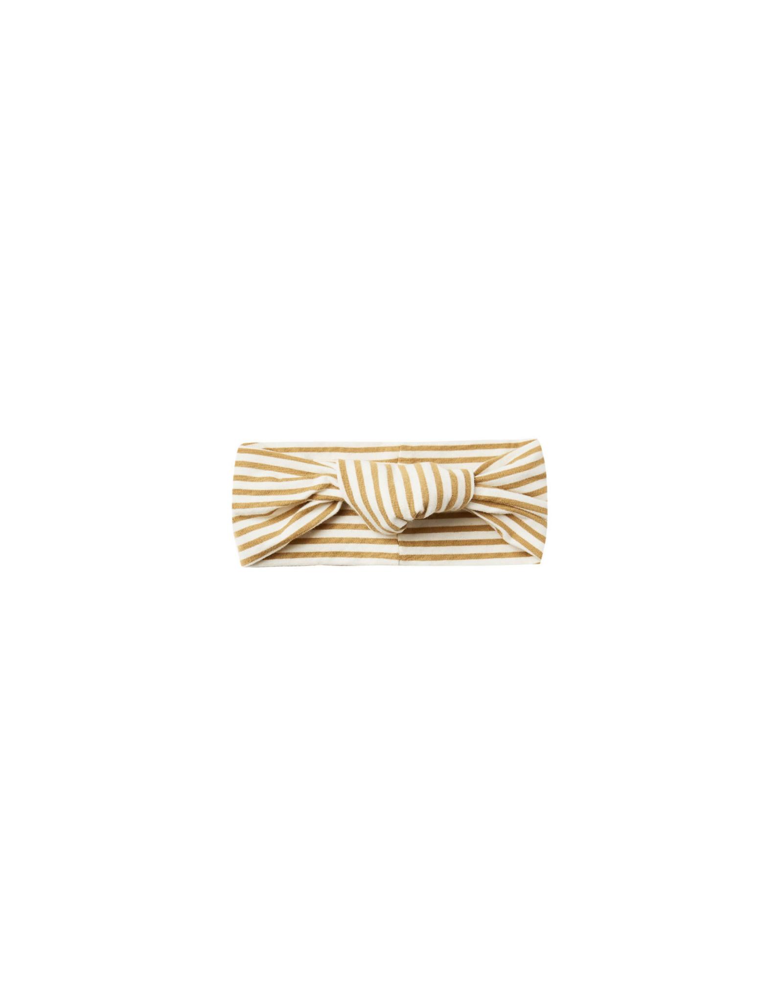 Quincy Mae Quincy Mae Baby Turban, Gold Stripe