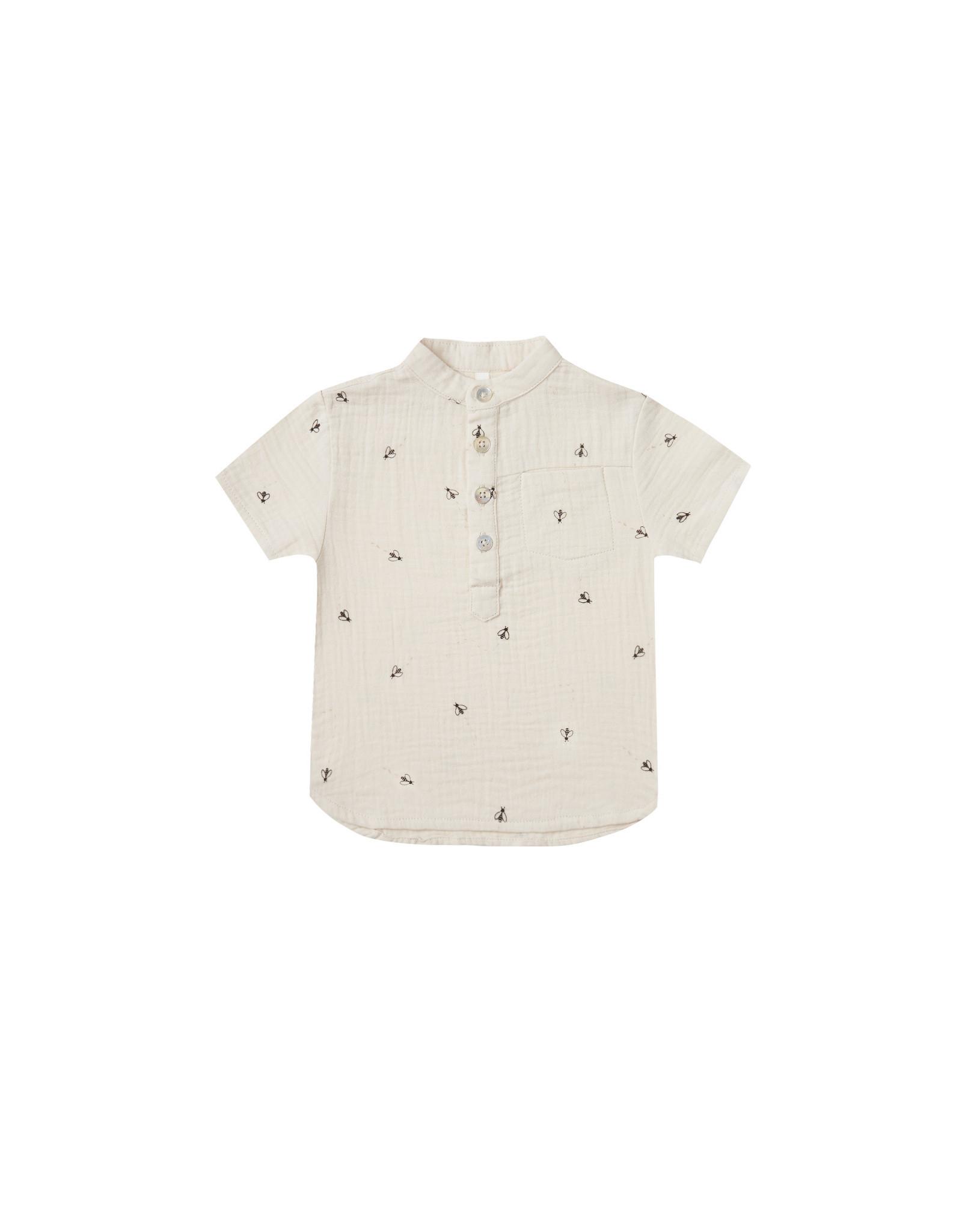 Rylee + Cru Bees Short Sleeve Mason Shirt