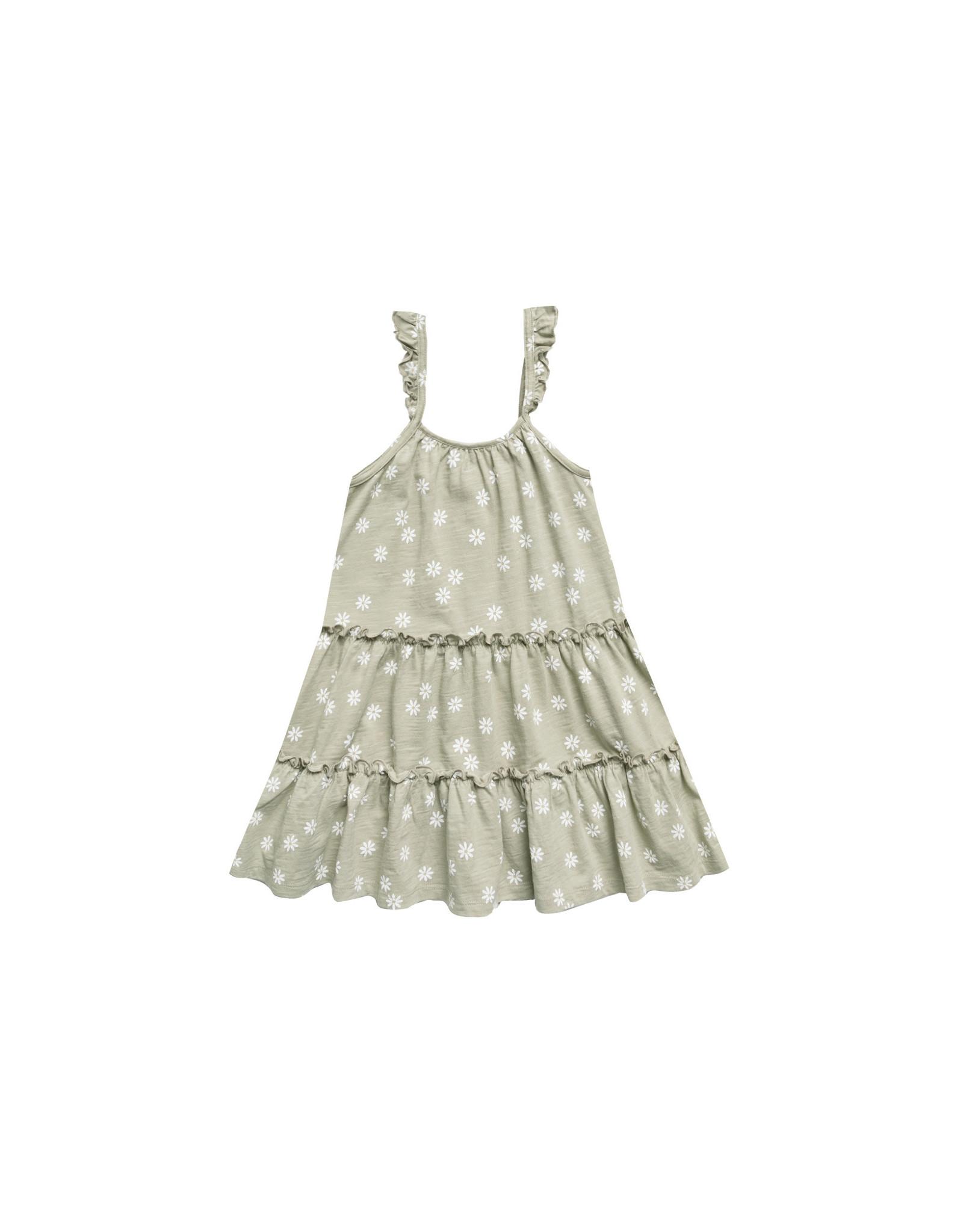 Rylee + Cru Daisy Confetti Tiered Jersey Dress