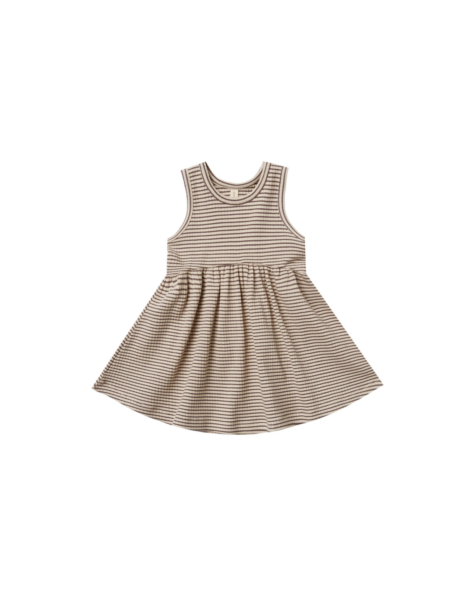 Quincy Mae Quincy Mae Striped Tank Dress, Charcoal