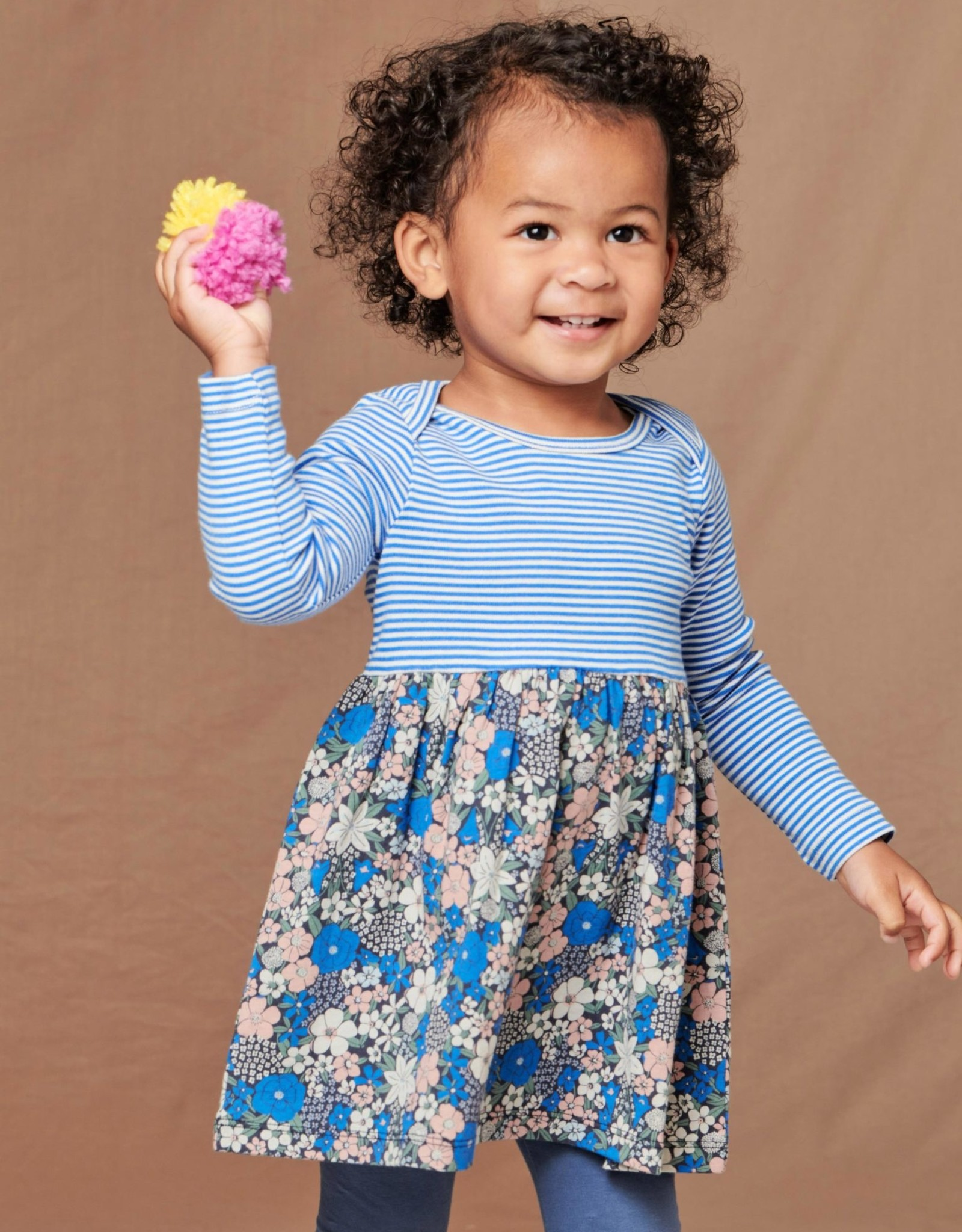Tea Two Tone Baby Dress, Swedish BOUQUET IN INDIGO