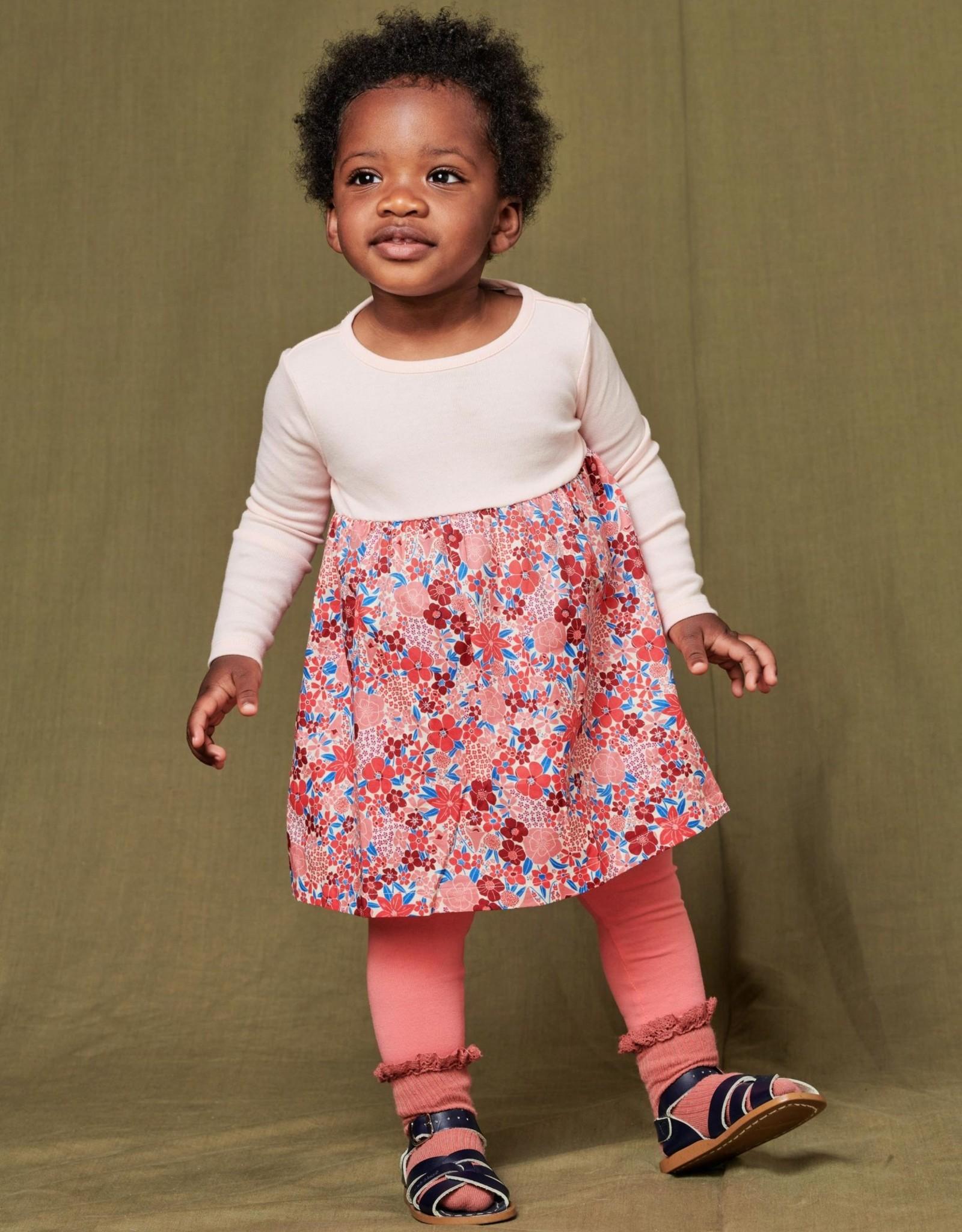 Tea Two-Tone Baby Dress, WILDFLOWER PATCH