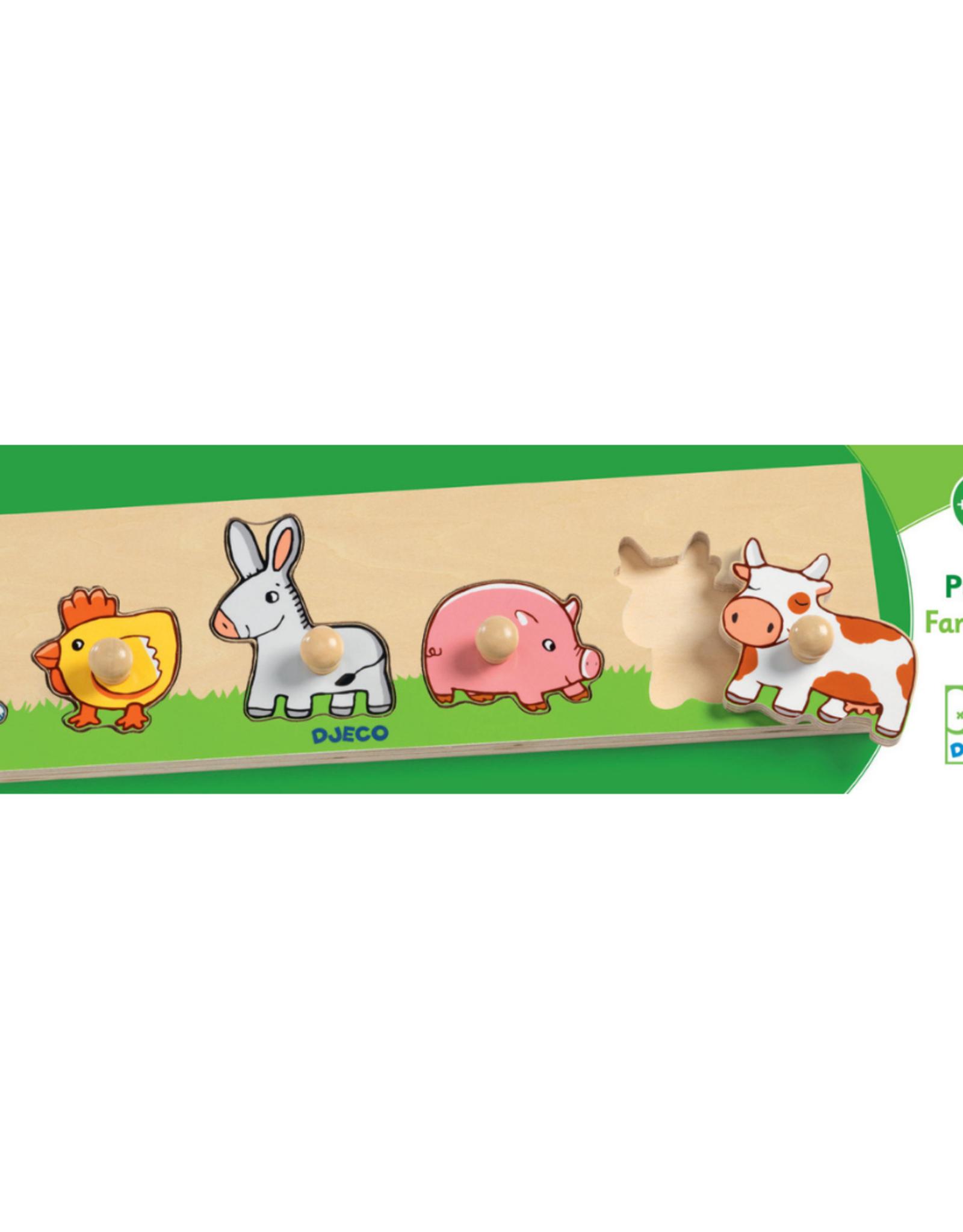 Djeco Djeco Wooden Puzzle Farm 'n' Co