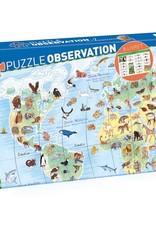 Djeco World Animals Observation Puzzle, 200 pcs